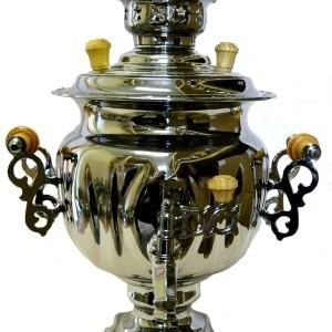 Самовар Овал, серебро