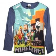 Футболка с длинными рукавами Minecraft Стив и друзья
