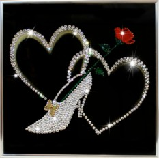 Картина с кристаллами Swarovski Туфелька для золушки