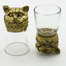 Рюмки-перевертыши с головами животных Британский кот