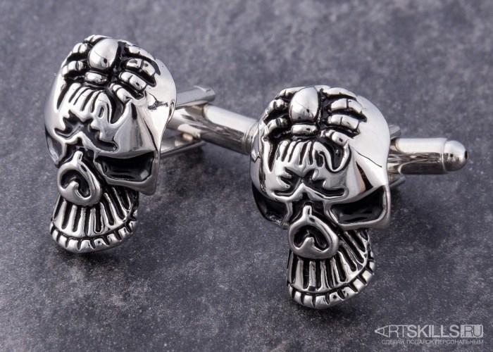 Запонки Skull