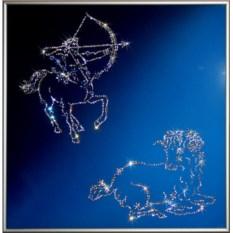 Картина с кристаллами Swarovski Стрелец+овен