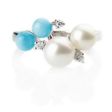 Серебряное кольцо с глазурью
