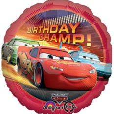 Шар CARS Birthday Champ!