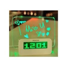 Будильник с LED доской (зеленый)