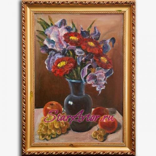 Авторская картина Цветы и фрукты