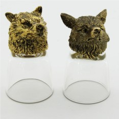 Набор рюмок-перевертышей с головами животных Волк и лиса