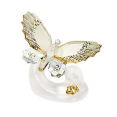 Хрустальная статуэтка Маленькая кремовая бабочка