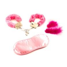 Эротический подарочный набор (наручники, повязка на глаза)