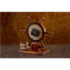 Настольные часы Штурвал с подставкой для ручек