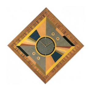 Часы настенные «Цветная инкрустрация»
