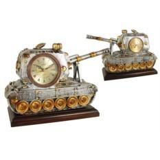 Настольные часы с термометром Танк Lisheng