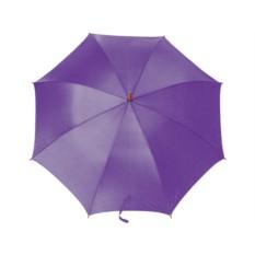 Зонт-трость полуавтоматический с деревянной ручкой, фиолетовый