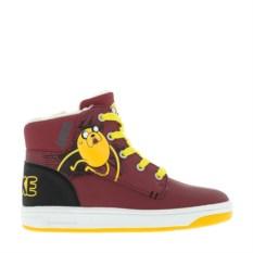 Бордовые ботинки Adventure Time