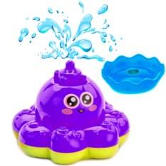 Фиолетовая игрушка для ванны «Фонтан-осьминожка»
