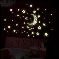 Светящиеся наклейки Месяц и звезды