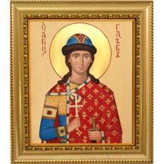 Икона на холсте Глеб-Святой благоверный князь