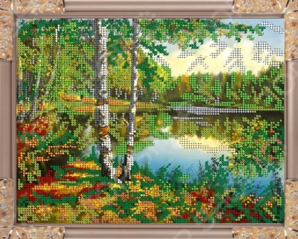Набор для вышивания бисером «Речка в лесу»