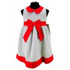 Платье для девочки с красным поясом Gamzelum