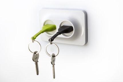 Набор из 2-х брелков для ключей, зеленый и черный