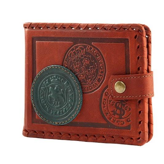 Кожаный кошелек «Счастливая монета»