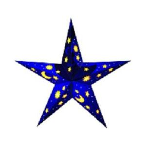 Дизайнерский светильник для детей «Звёзды и месяц»