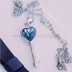 Кулон с голубым кристаллом Сваровски Ключ