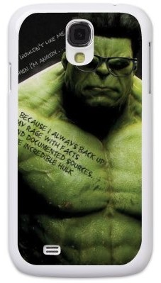 Чехол для Samsung S4 (пластик), Халк