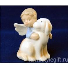 Статуэтка Ангелочек с собакой