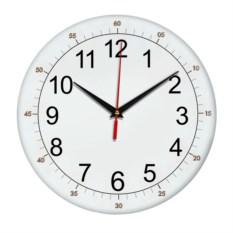 Настенные часы с секундной разметкой