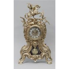 Каминные часы с маятником Всадник с птицей
