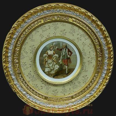 Декоративная тарелка в рамке
