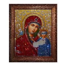 Картина с кристаллами Сваровски Богородица Казанская