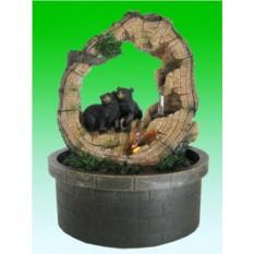 Настольный фонтан с подсветкой Мишки