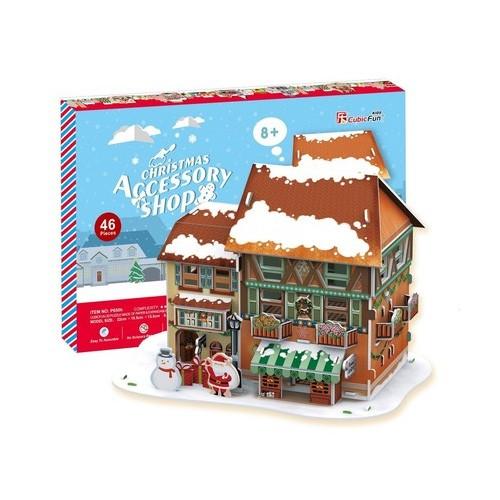 3D пазл Cubic Fun Рождественский домик 4 с подсветкой