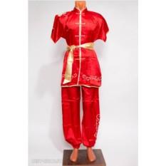 Красный костюм ифу с коротким рукавом