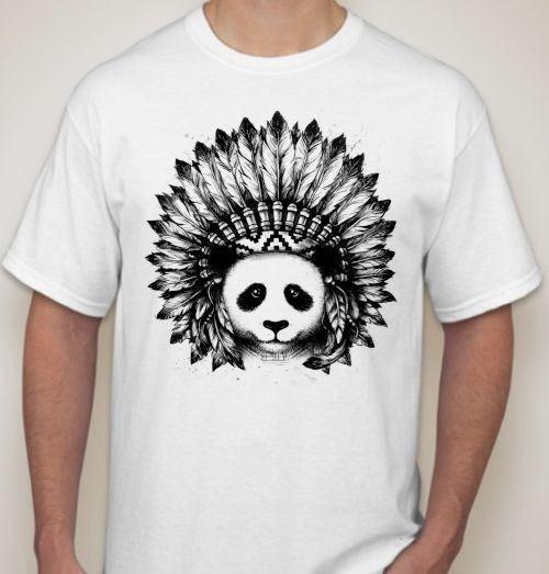 Мужская футболка Панда индеец