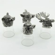 Рюмки-перевертыши с головами животных Лесные животные