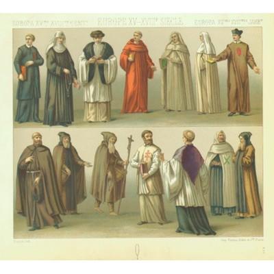 Европа XV-XVIII века: одеяния духовенства