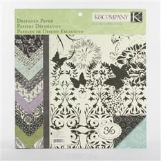 Набор бумаги для скрапбукинга K&Company Черный и слоновая кость, 36 листов