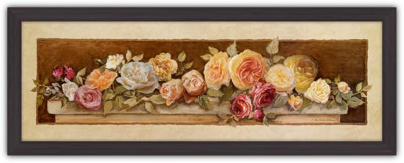 Картина (репродукция) Розовый покров II (Розы на столе)