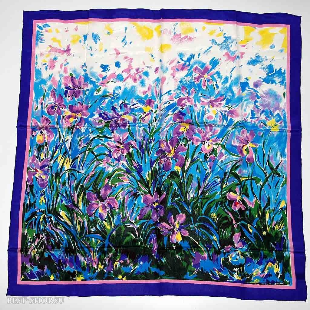 Шелковый платок Ирисы