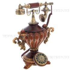 Декоративное изделие Телефон (цвет — красно-коричневый)