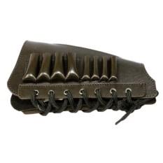 Кожаный патронташ на приклад на 6 патронов