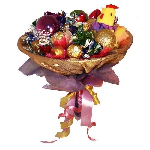 Букет конфет Веселые петушки