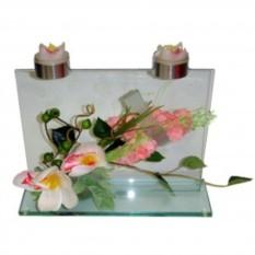 Прозрачный подсвечник Орхидея
