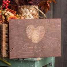 Деревянная книга пожеланий Сердце