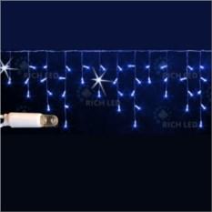 Светодиодная гирлянда-бахрома синего цвета