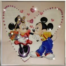 Картина с кристаллами Сваровски Микки и Минни