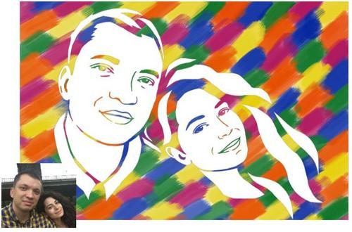 Портрет для пары на годовщину своими руками